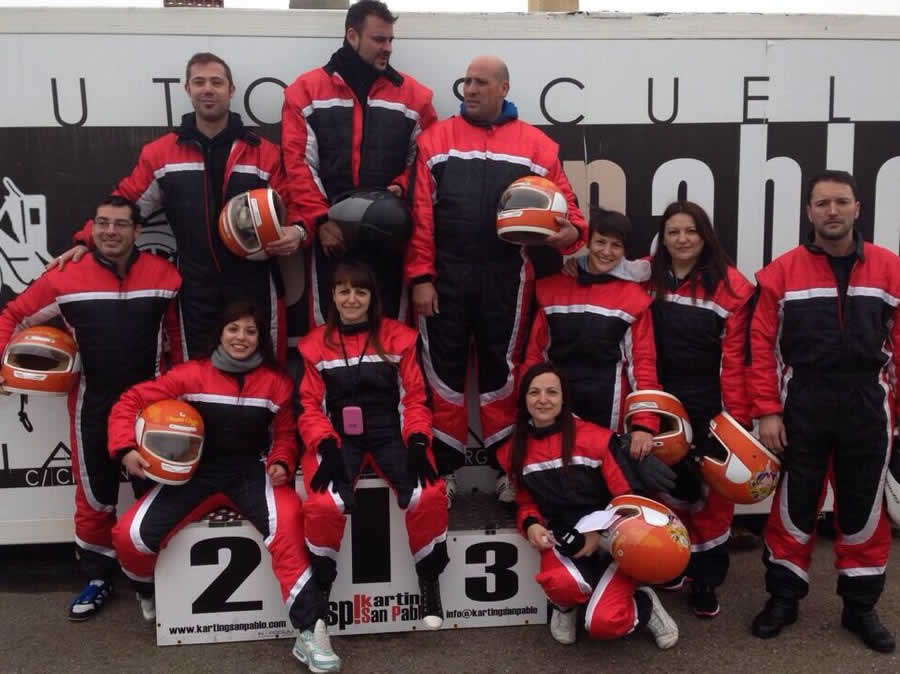 Awards ceremony with Inpodium, the podium of awarding prizes, in the Karting San Pablo