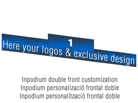 Customized Double Winners Podiums Fronts